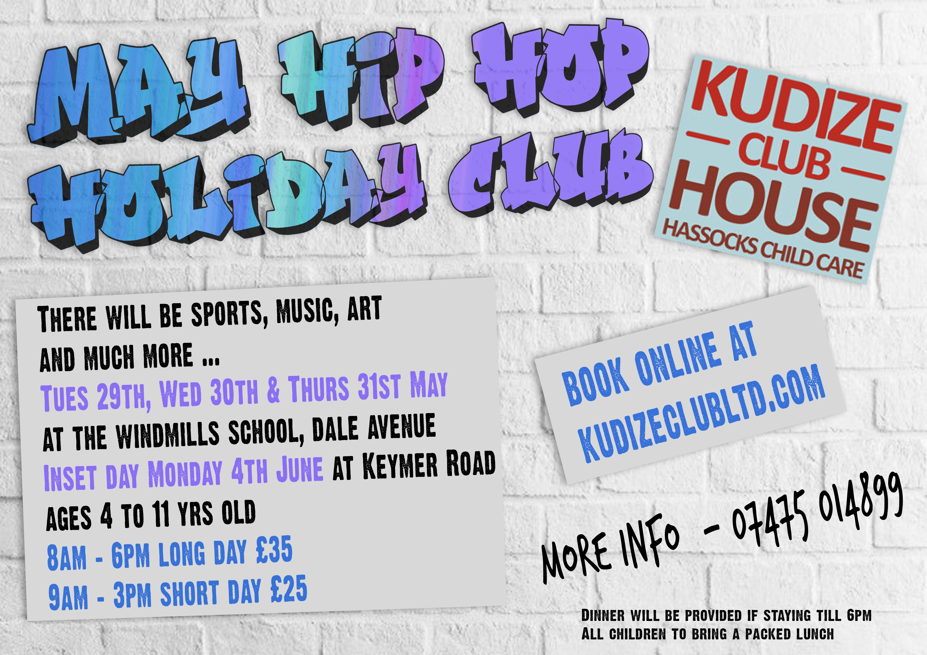 Hop Hop Holiday Club at The Windmills Junior School Dale Avenue