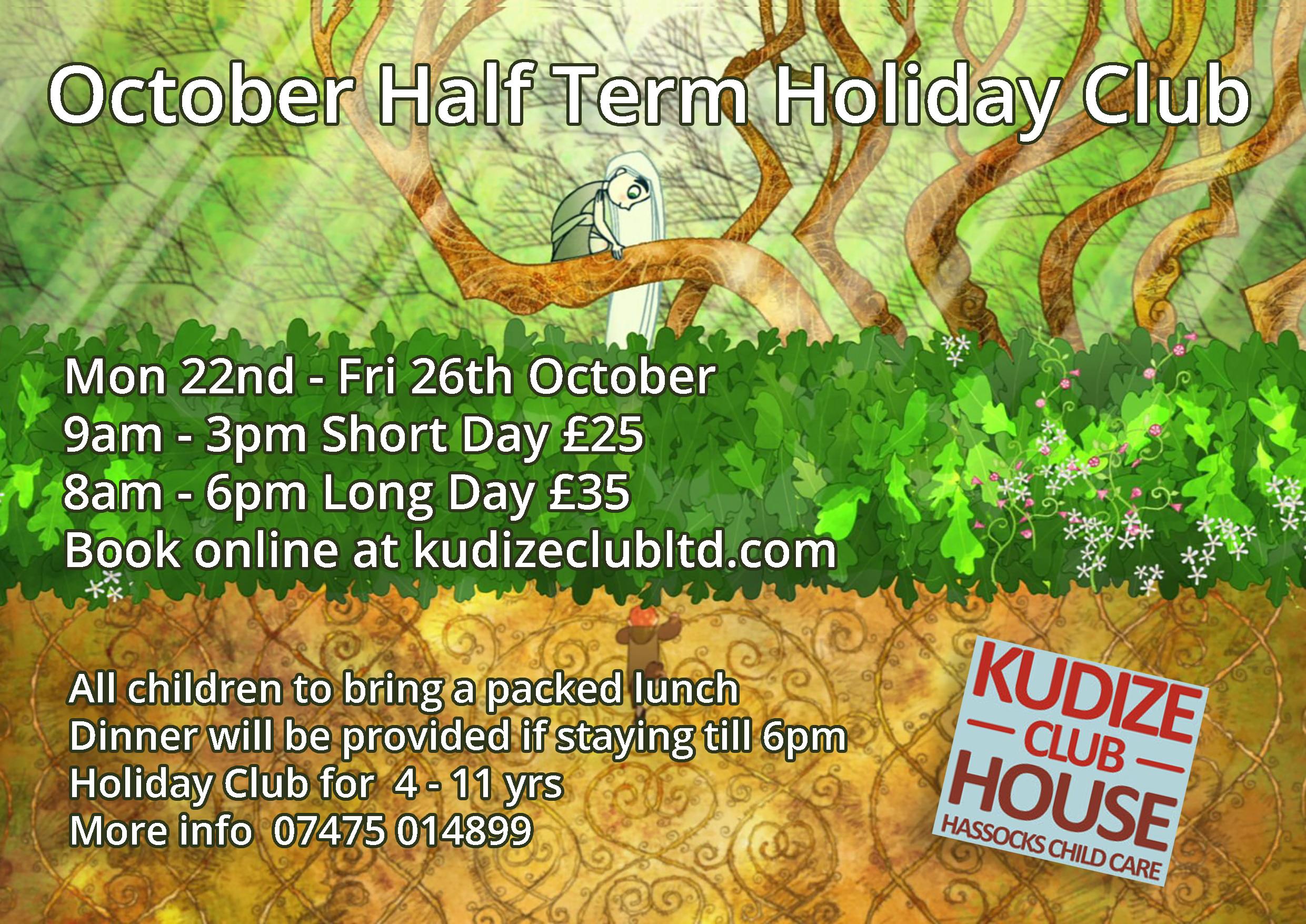 Kudize October Half Term