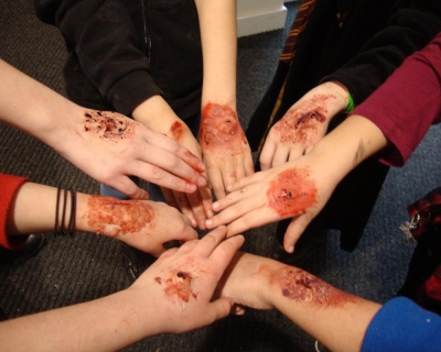 Holiday Club, theatrical make up
